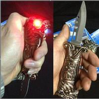 """Зажигалка - нож раритетная """"Орел"""". Зеленое пламя и светящиеся глаза., фото 1"""