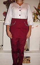 Стильный медицинский костюм ( батист 42-60 р-ры ), фото 2