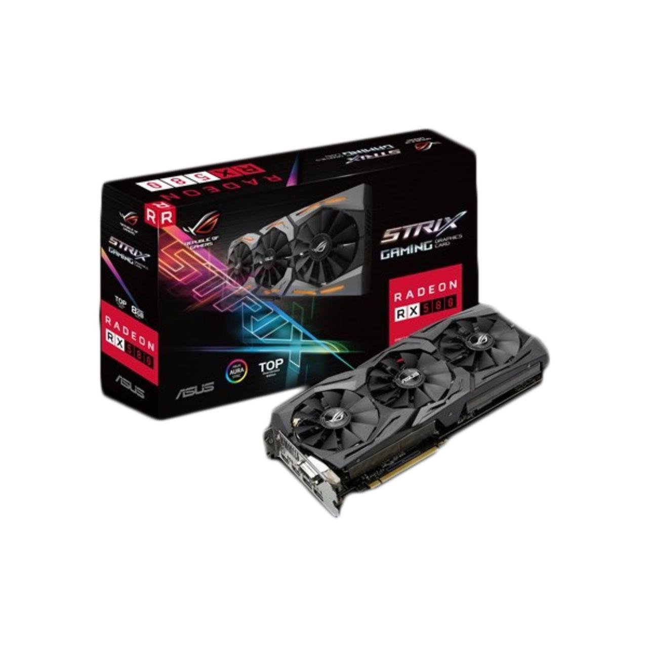 Видеокарта Asus Radeon RX 580 ROG Strix (ROG-STRIX-RX580-T8G-GAMING)