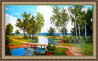 Картина в багетной раме Летний пейзаж 50х1000 мм №377