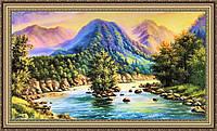 Картина в багетной раме Горный пейзаж 50х1000 мм №372