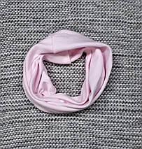 Комплект шапка + хомут весна-осень на девочку розового цвета AGBO (Польша)  размер 46 48 50 , фото 2