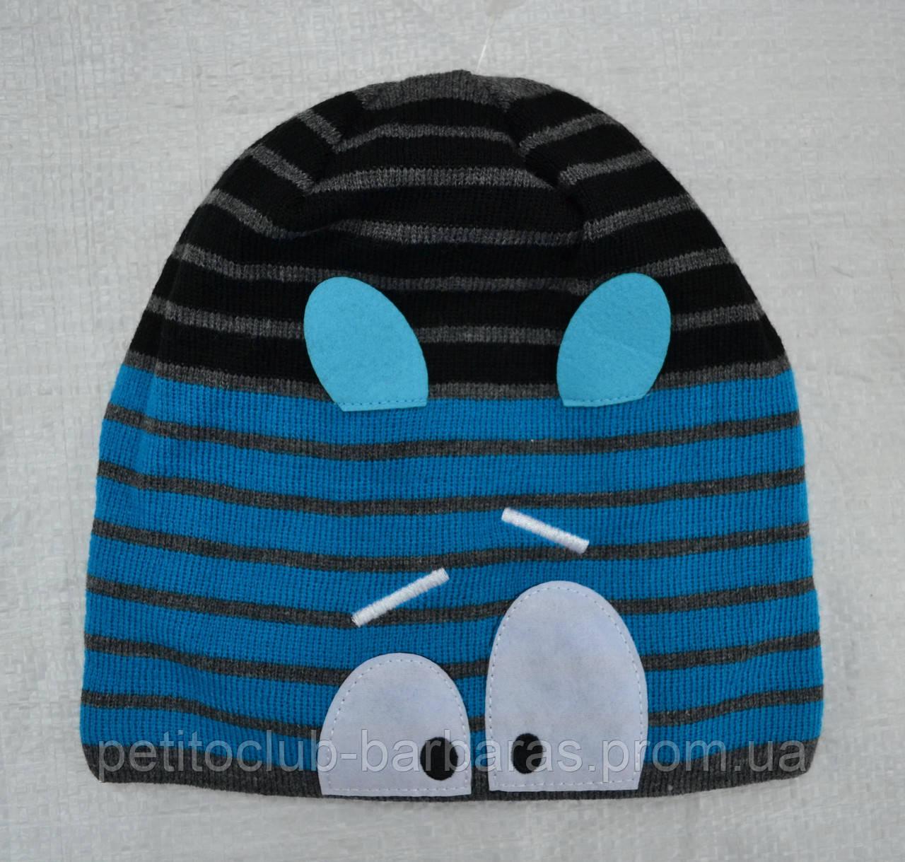 Зимняя шапка в полоску для мальчика Чудо :) (AJS, Польша)