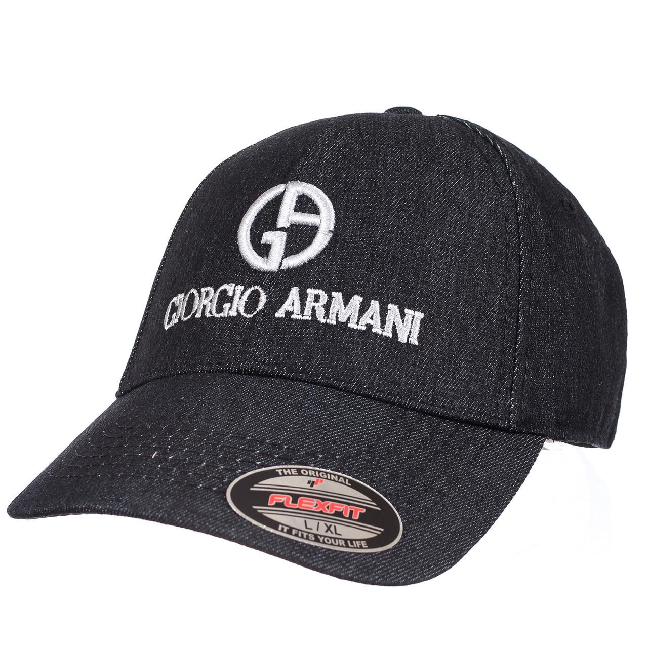 Бейсболка GIORGIO ARMANI джинс черный
