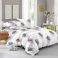 Двуспальный комплект постельного белья 180х220 из сатина (50х70) Волшебное перо