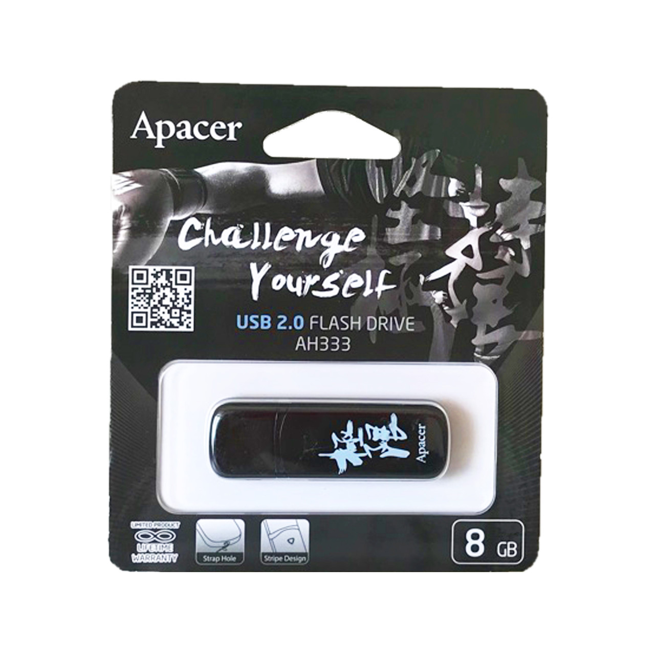 Флеш USB Apacer AH333 8Gb Black with Chinese Character