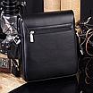 Мужская сумка барсетка через плечо Kangaroo Черный, фото 2