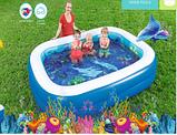 Детский надувной бассейн Подводный мир Bestway 54177,размер  262-175-51см, фото 2