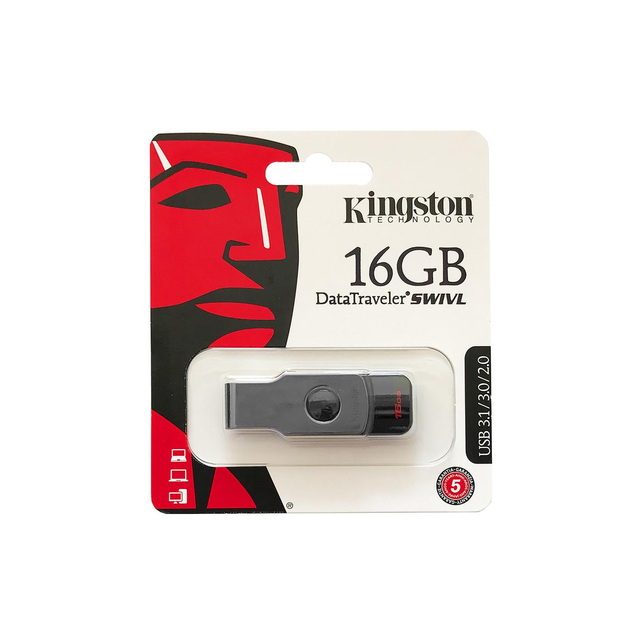 Флеш USB KINGSTON DT SWIVL 16Gb USB 3,0 Black