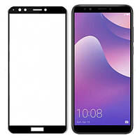Гибкое защитное стекло Caisles 5D (на весь экран) для Huawei Y7 Prime (2018)