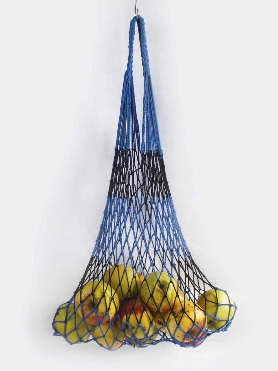 Авоська - полосатая - сине черная -2