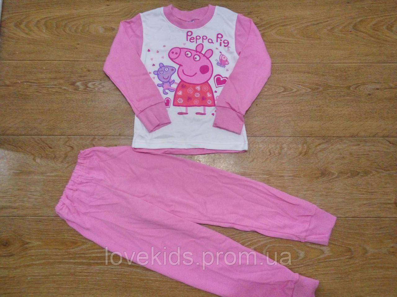 66b4c93c81be Пижама для девочки Свинка Пеппа 98-122 см (интерлок) - Интернет-магазин
