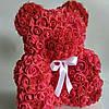 Мишка из латексных красных розочек, фото 3