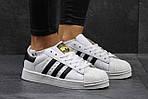 Мужские кроссовки Adidas Superstar (бело-черные) , фото 2