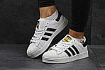 Мужские кроссовки Adidas Superstar (бело-черные) , фото 7