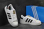 Мужские кроссовки Adidas Superstar (бело-черные) , фото 3