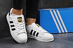 Мужские кроссовки Adidas Superstar (бело-черные) , фото 6