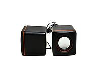 Колонки компьютерные USB 2.0 SPS D02A Черный (44401/1)