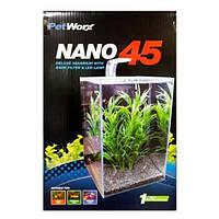 PetWorx Nano-45 аквариумный набор с оборудованием, 40 л