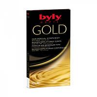 Восковые полоски для депиляции лица с золотом BYLY Depil Gold Hair Removal Strips Face