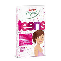 Восковые полоски для депиляции тела для молодой кожи BYLY Depil Teens Hair Removal Strips Face