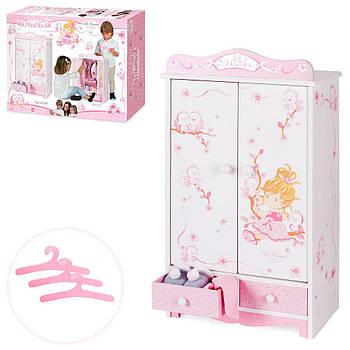 Дерев'яна іграшка Гардеробна шафа для ляльки 54023 Гарантія якості Швидкість доставки