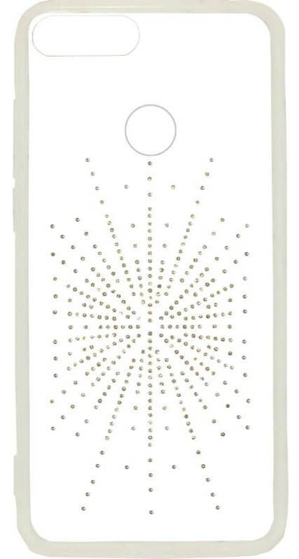 Силикон Huawei P Smart White Silver Shine