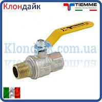 Кран шаровой для газа TIEMME 1/2' ВН с ручкой
