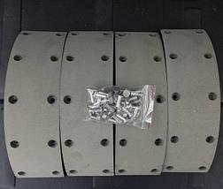 Накладка тормозная Hyundai HD65, Богдан А069, Хюндай HD (c заклепками), фото 3