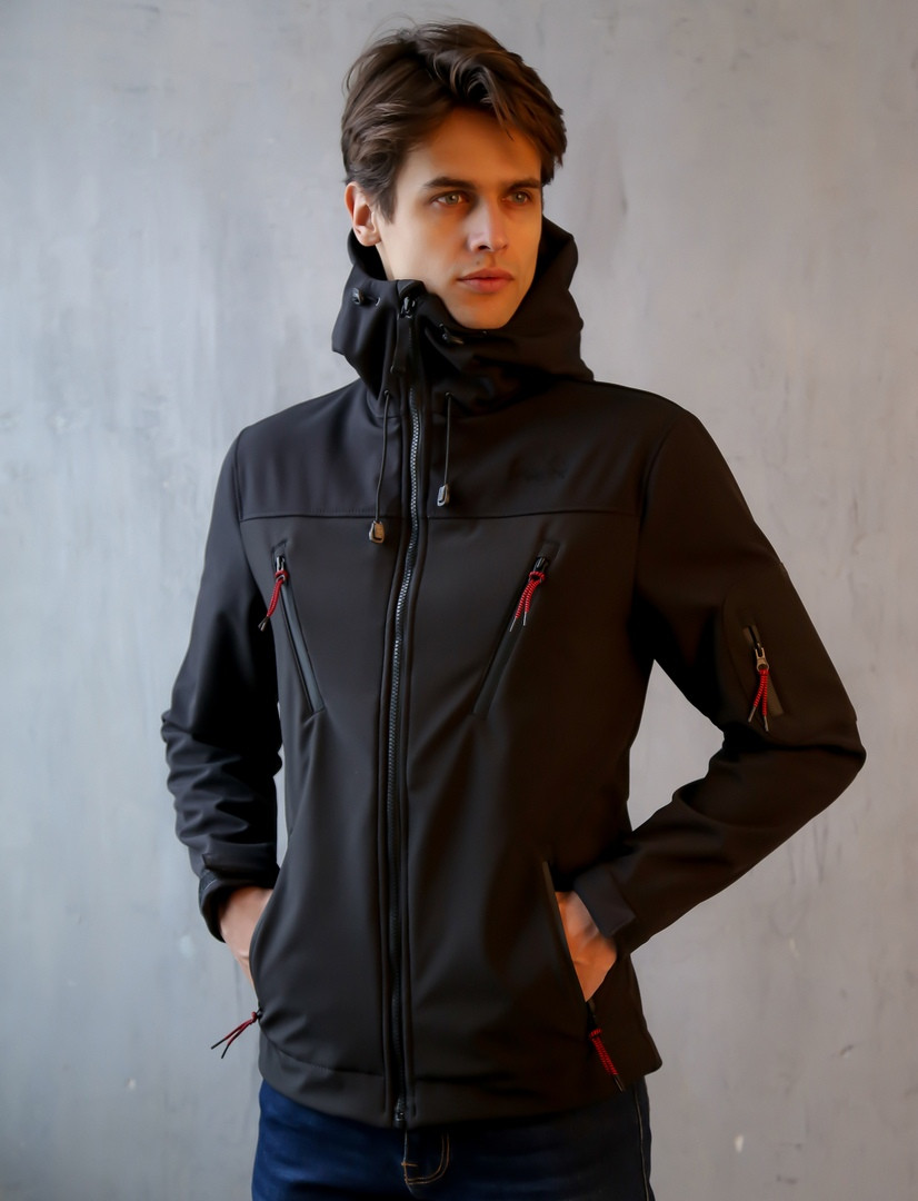 e8b253877b27e Мужская Весенняя куртка (черная) - INTRUDER | Интернет- магазин мужской  одежды в Харькове