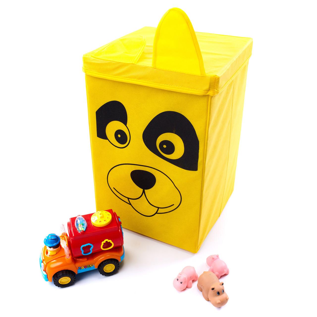 Детский ящик для игрушек с крышкой Собака 35*35 см