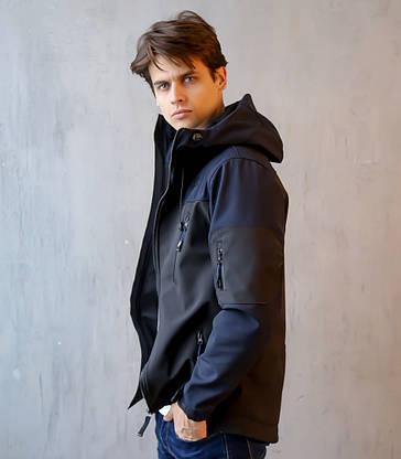 Мужская Весенняя куртка (сине-черная), фото 2