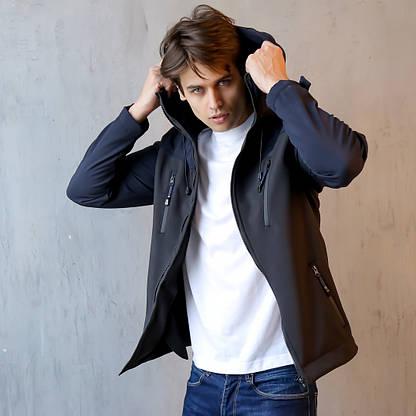 Мужская Весенняя куртка (сине-черная), фото 3