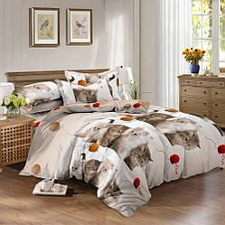 Семейный комплект постельного белья сатин (10307)