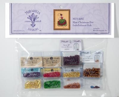 Бисер Miss Christmas Eve Mirabilia Designs Mill Hill Embellishment Pack MD148E