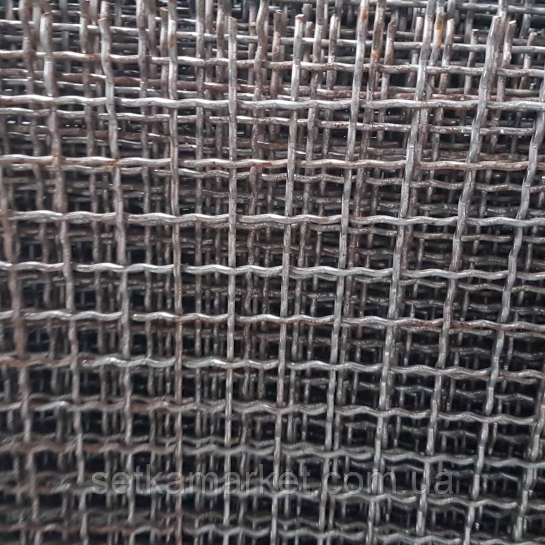 Сетка Канилированная, Ячейка 25х25 мм, Проволока 2.5 мм. Чёрная