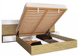 Кровать Соната 160*200 подъемная с тумбами и каркасом глянец белый Сан Марино ТМ Миро Марк