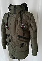 Куртка весенняя для мальчика  интернет магазин     32-42  хаки, фото 1