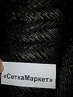 Сетка Рабица, Ячейка 40х40, Диаметр 1,6, Рулон 1.5х10 Чёрная