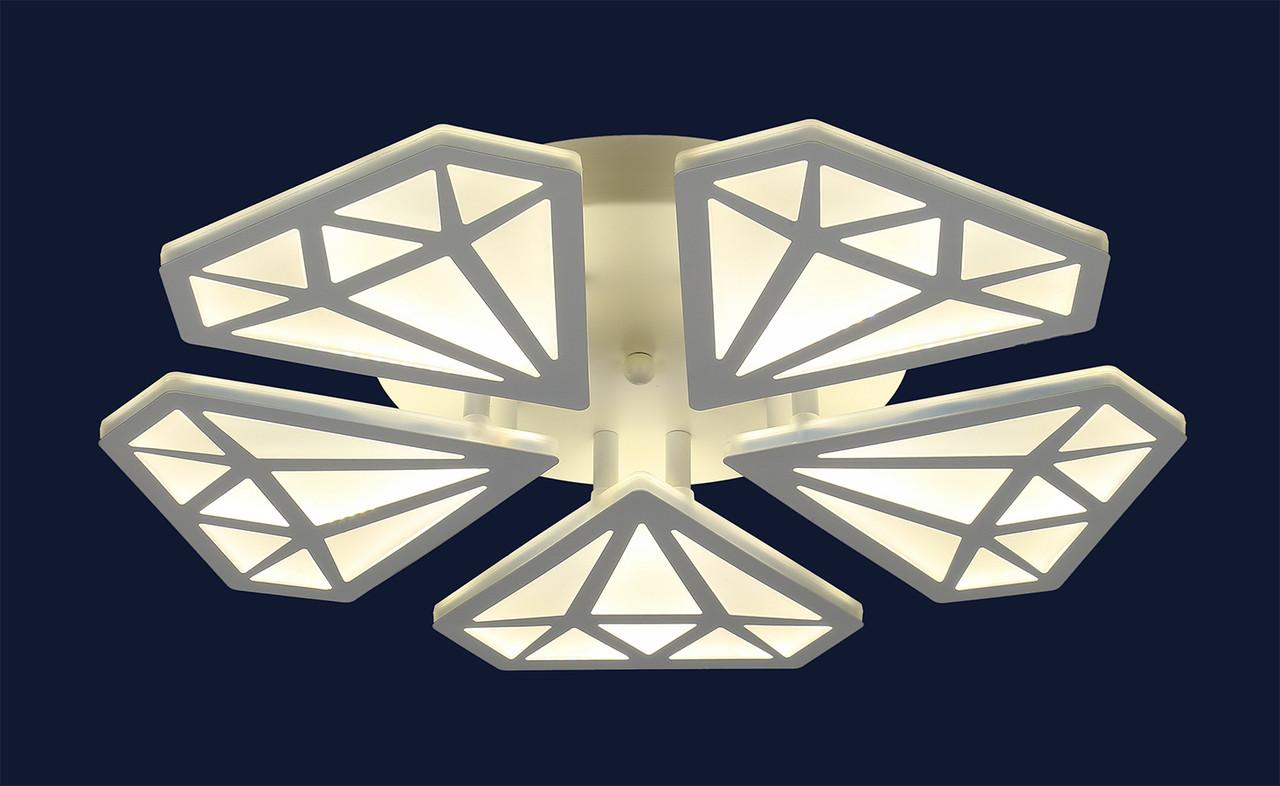 Світлодіодна стельова люстра Levistella 755MX10011-5 WH LED
