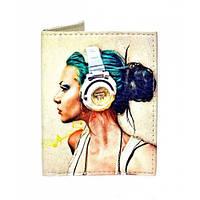 Женская обложка на ID паспорт Music, фото 1