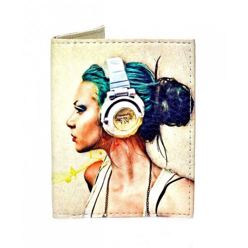 Женская обложка на ID паспорт Music