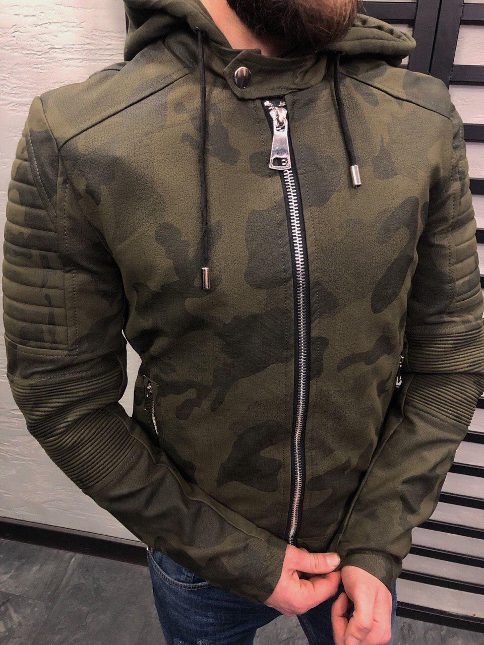 30c153054d8ff Куртка весенняя мужская из кожзама камо - Интернет-магазин обуви и одежды  KedON в Киеве