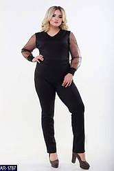 Женский комбинезон с брюками (батал)
