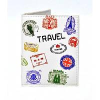 Обложка на ID паспорт Travel штампы, фото 1