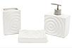 Набор аксессуаров для ванной комнаты Круги (цвет - белый), 3 предмета, фото 4