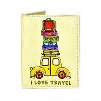 Необычная обложка на ID паспорт Веселый багаж