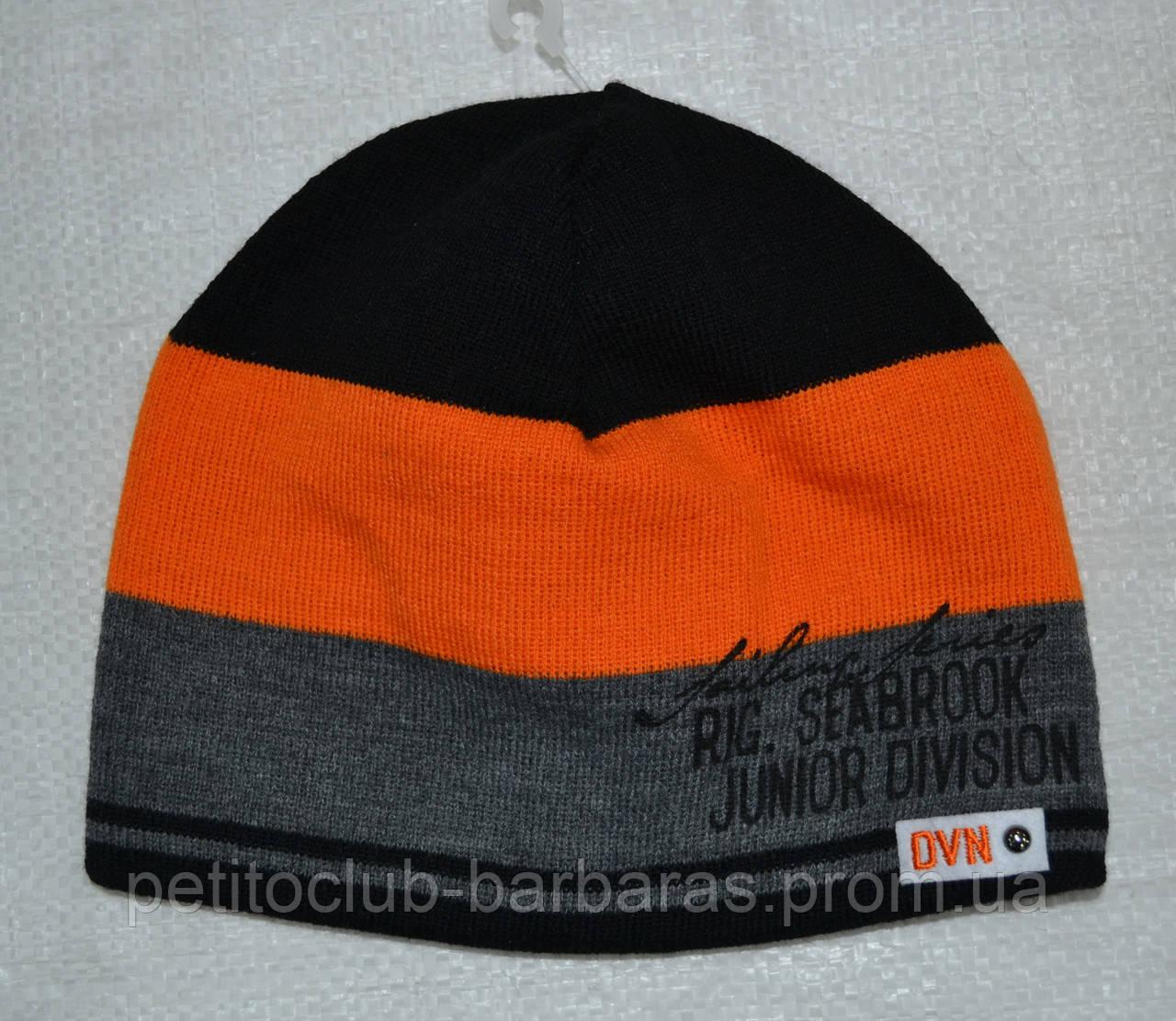 Зимняя шапка в полоски для мальчика Junior division (AJS, Польша)
