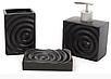 Набор аксессуаров для ванной комнаты Круги (цвет - черный), 3 предмета, фото 2