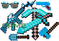 Полный подарочный набор оружия Minecraft FullPack
